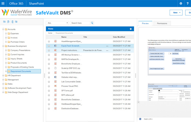 SafeVault Document Management Software - A Office-365