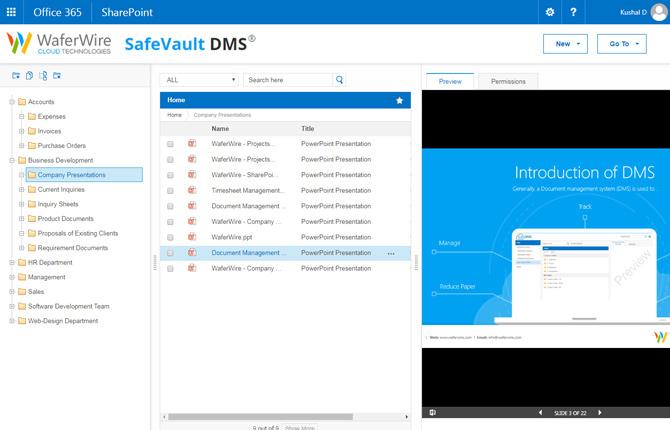 safevault document management software a office 365 sharepoint