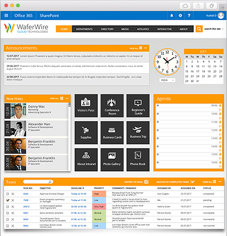 waferwire intranets portals connect your organization